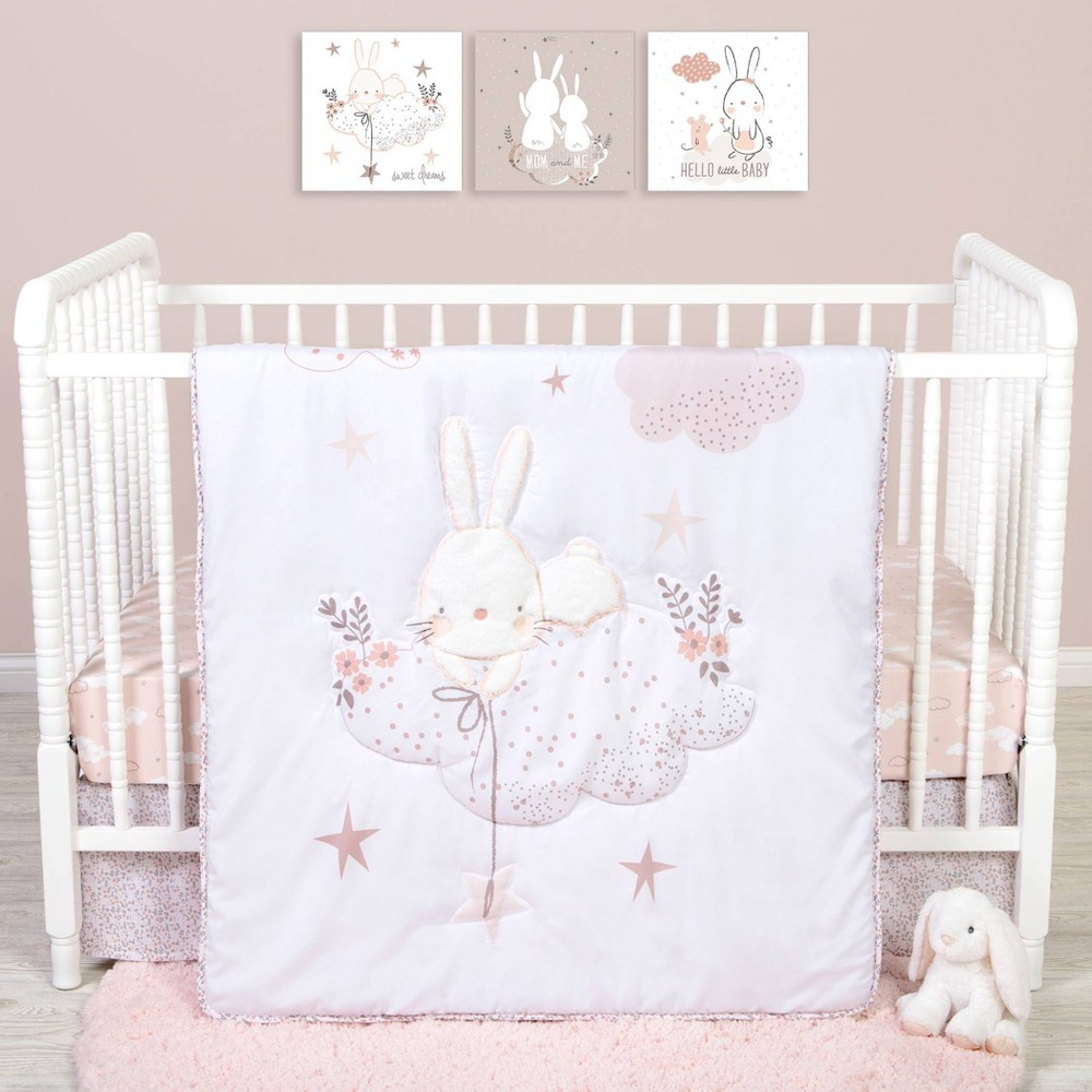 Image of Sammy and Lou Cottontail Cloud Crib Bedding Set - 4pc