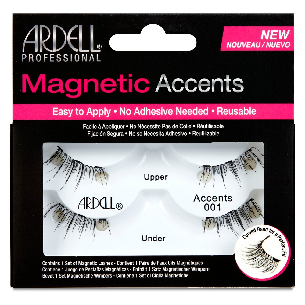 Image of Ardell Accent 001 Magnetic Eyelashes Black - 1pr