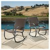 Gracie's Set of 2 Wicker Patio Rocking Chair - Brown - Christopher Knight Home - image 2 of 4