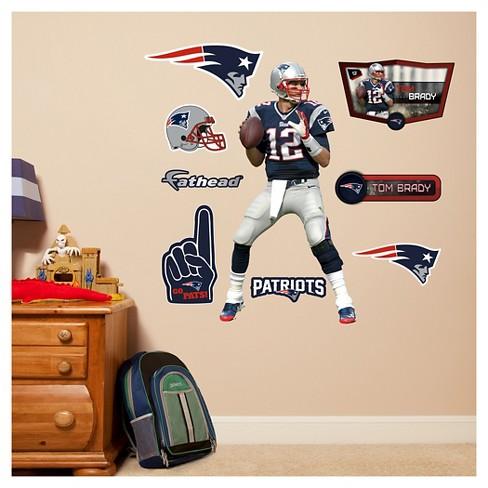 b6b8fa35895 NFL New England Patriots Tom Brady Fathead Wall Decal Set   Target