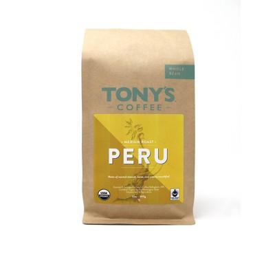 Tony's Coffee Peru Medium Roast Whole Bean Coffee - 12oz