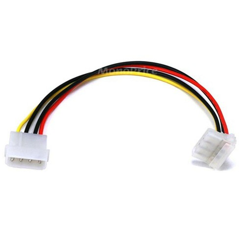 Monoprice Molex Internal DC Power Extension Cable, 1x 5.25in Male to 1x 90-degree 5.25in Female, 9in - image 1 of 3
