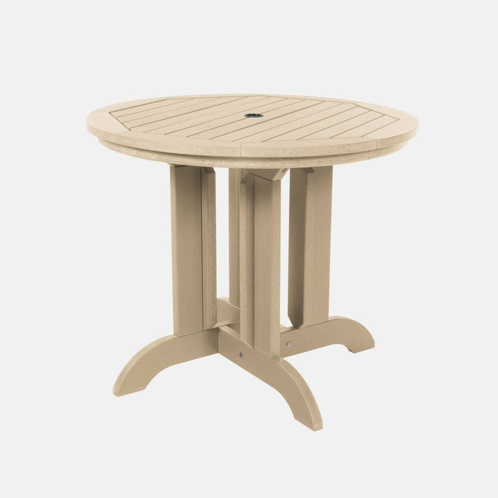 "Image of ""36"""" Round Patio Dining Table Tuscan Taupe - highwood, Tuscan Brown"""