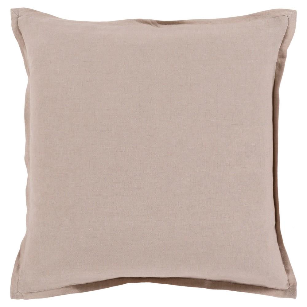 Brown Cesky Handmade Throw Pillow (22x22