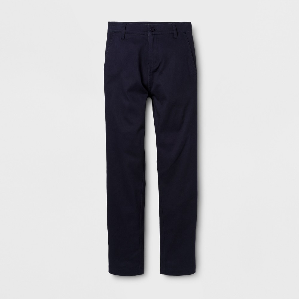 Eddie Bauer Boys' Chino Pants - Navy 12, Blue
