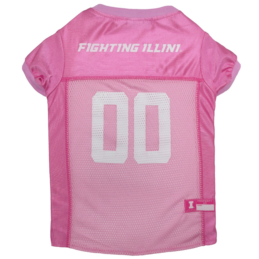 Pets First Illinois Fighting Illini Pink Jersey - L, Multicolored