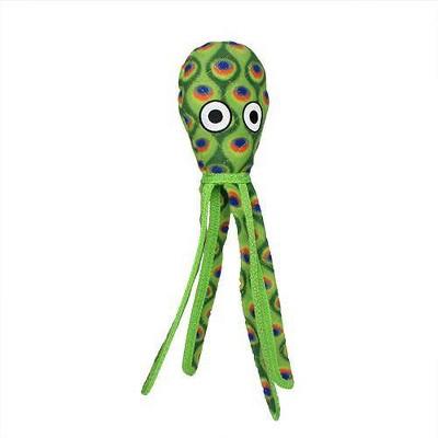 Tuffy Ocean Creature Squid Dog Toy - Green