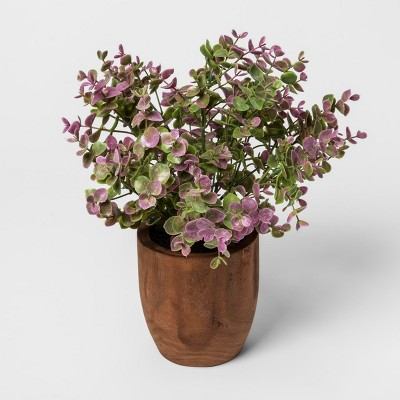 Faux Plant in Wooden Pot - Threshold™