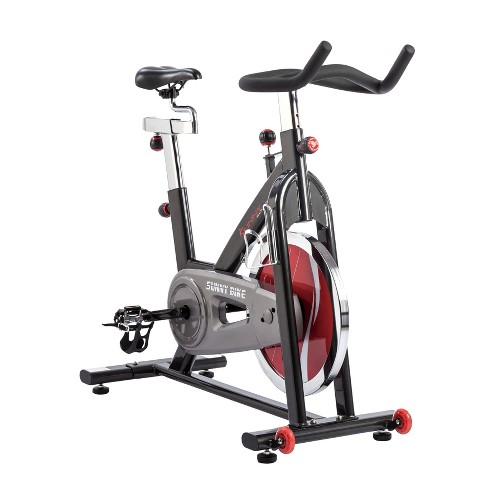 Sunny Health and Fitness Chain Drive Indoor Cycling Bike - Dark Gray - image 1 of 4