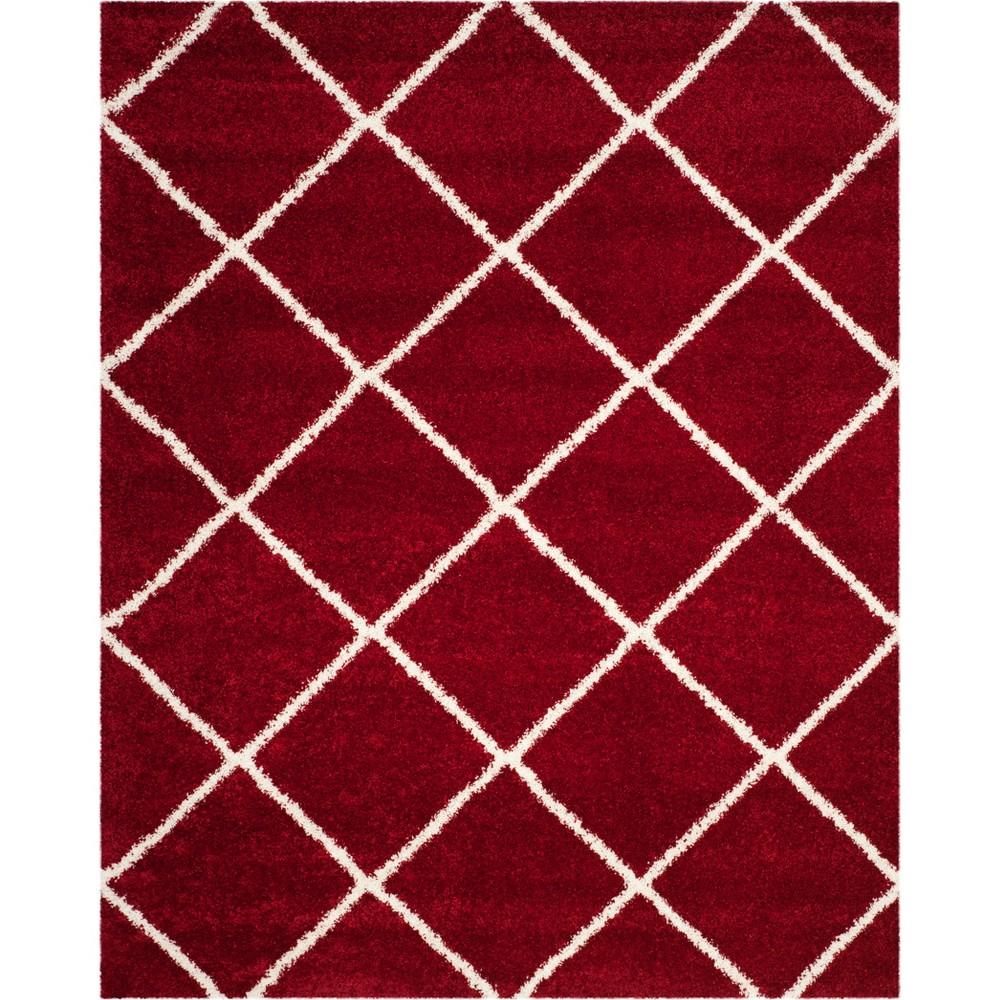 8 39 X10 39 Hudson Shag Area Rug Red Ivory Safavieh