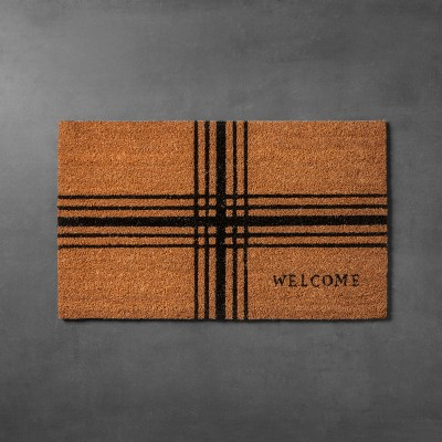 Plaid Coir Doormat (18 x30 )- Hearth & Hand™ with Magnolia