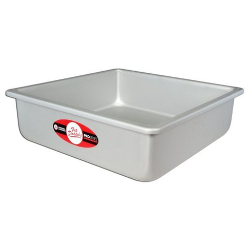 Fat Daddio's Anodized Aluminum Square Cake Pan Solid Bottom,  14 x 14 x 3 Inch - image 1 of 2