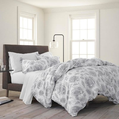 Twin 2pc Meadow Walk Comforter Set Gray - EcoPure