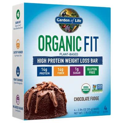 Garden Of Life Organic Vegan Fit Protein Bar Chocolate Fudge 4pk Target