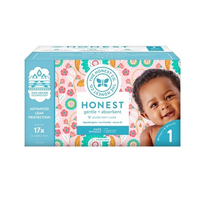 The Honest Company Flower Child Club Box Disposable Diapers - Size 1 (80ct)