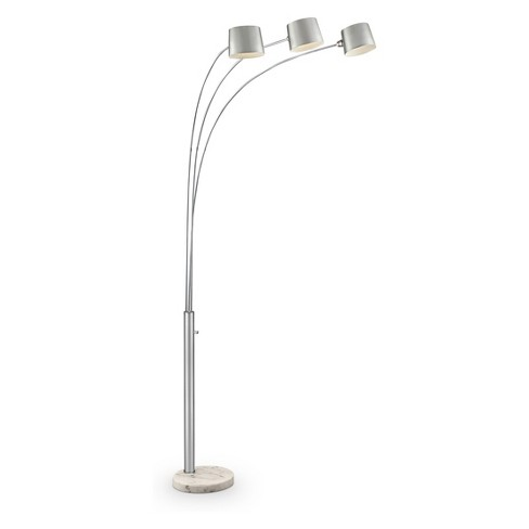 Arc Floor Lamp With 3 Adjule Arms