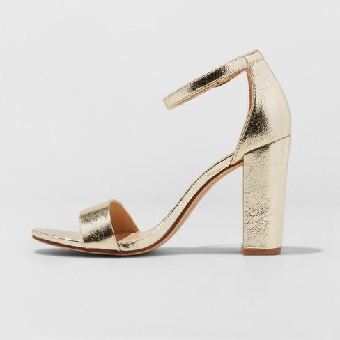 afaa76dbbc9 Women's Ema High Block Heel Pumps - A New Day™ Gold 6