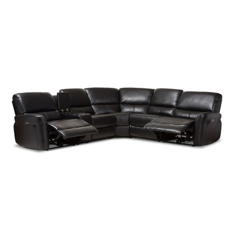 Amaris Modern And Contemporary Bonded Leather 5pc Power Reclining ...