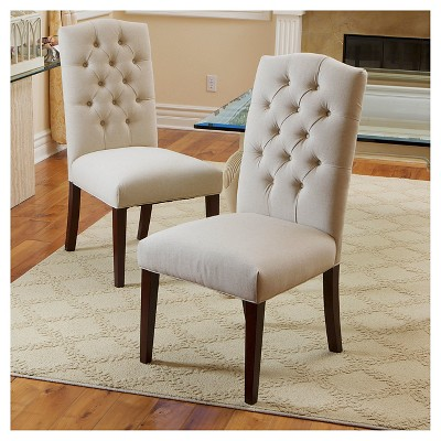 Attirant Crown Fabric Dining Chairs   Off White (Set Of 2)   Christopher Knight Home  : Target