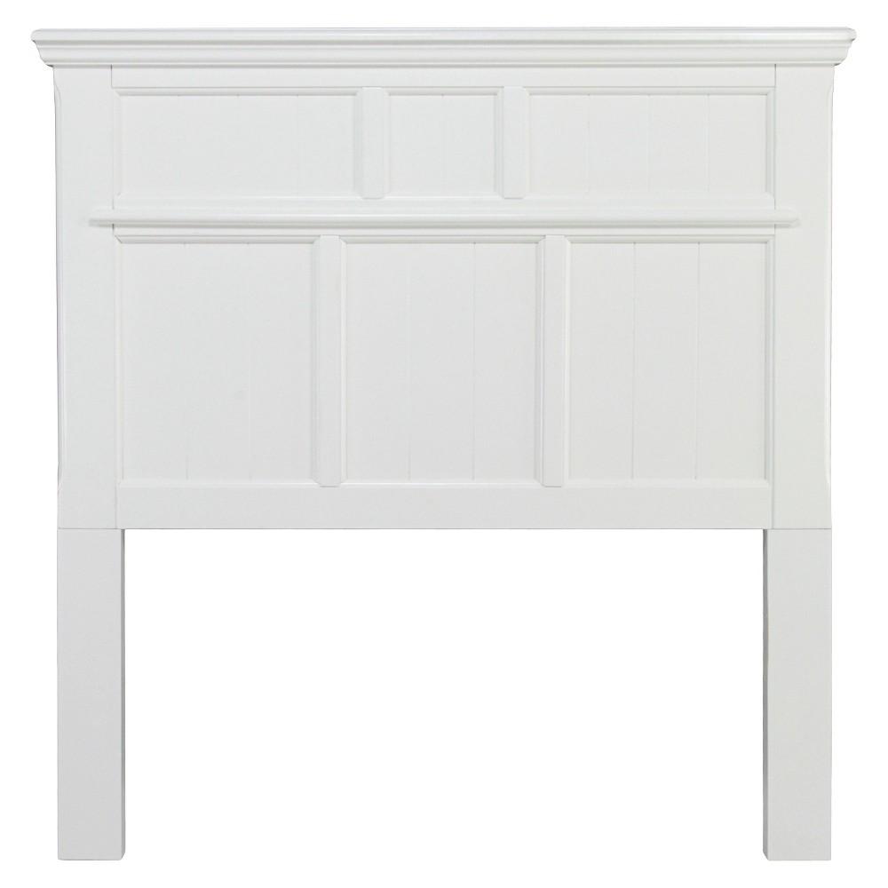Sun & Pine Dakota Adjustable Wood Twin Headboard in White, Winter White