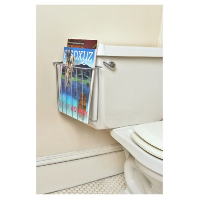 Over the Tank Magazine Rack Satin Finish - Totally Bath