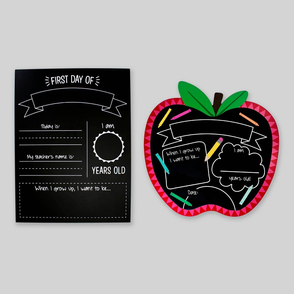 2pc First Day of School Chalkboards - Bullseye's Playground was $10.0 now $5.0 (50.0% off)