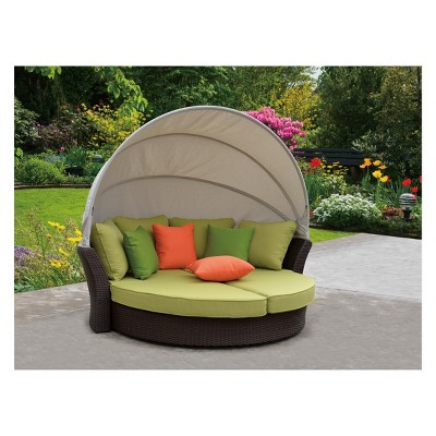 Patio Sofa Lounger with Shade
