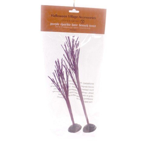 Department 56 Accessory Purple Sparkle Bare Branch Tree Halloween Village - image 1 of 1