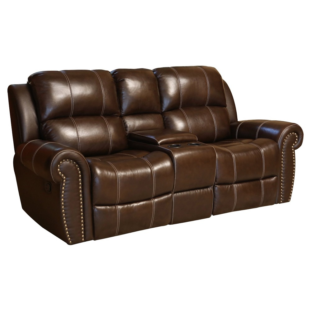 Image of 34 X 80 X 33 Inch Loveseat - Abbyson Living, Brown