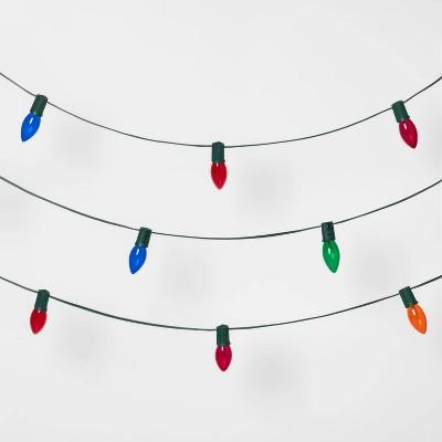 25ct Christmas Incandescent C9 String Lights Transparent - Wondershop™
