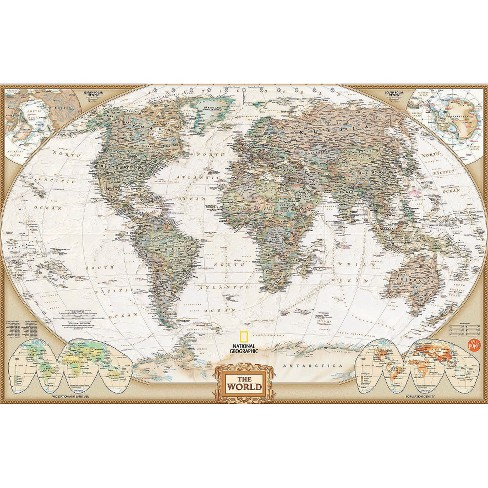 WallPops!® National Geographic World Map - Beige : Target