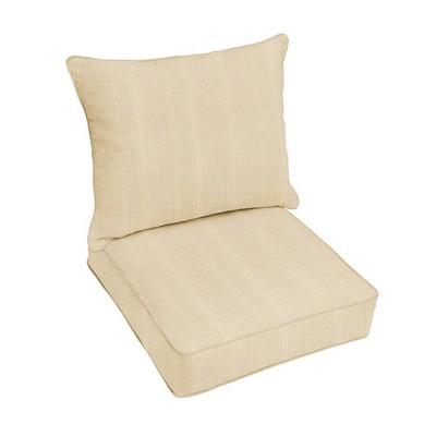 Sunbrella Textured Outdoor Seat Cushion Beige