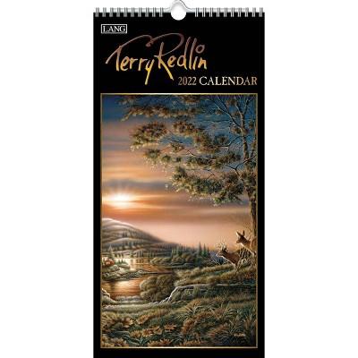 """2022 Vertical Wall Calendar 7.75""""x15.5"""" Terry Redlin - Lang"""