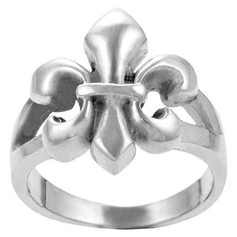 Journee Collection Sterling Silver Fleur de Lis Ring - Silver 9 - image 1 of 2
