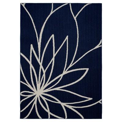 Garland Grand Floral Area Rug - Indigo/Ivory (5'X7')