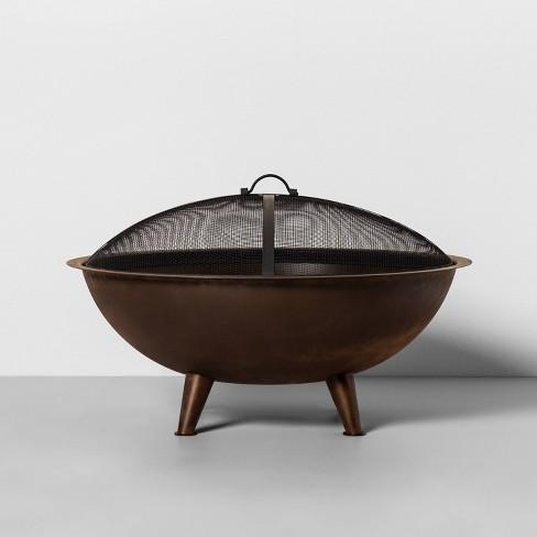 "28"" Corten Steel Cauldron Fire Pit - Hearth & Hand™ with Magnolia - image 1 of 3"