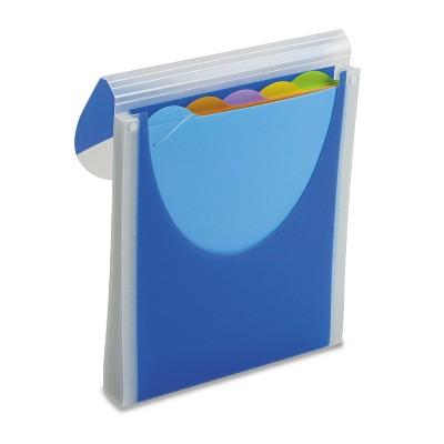 Wilson Jones Big Mouth Vertical Filer Organizer Jacket 10 x 12 Poly Dark Blue 68583