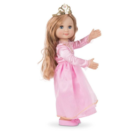 Melissa & Doug Celeste 14-Inch Poseable Princess Doll With Pink Gown and Tiara image number null