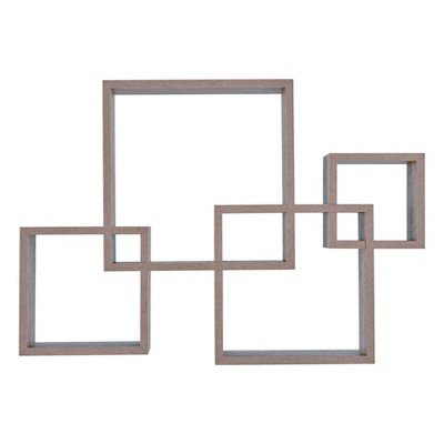 "25.5"" x 17.75"" Intersecting Cube Wall Shelf - Danya B."