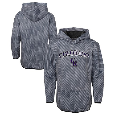 MLB Colorado Rockies Boys' First Pitch Gray Poly Hoodie - image 1 of 3
