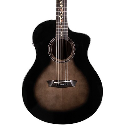 Washburn Bella Tono Vite S9V Studio Acoustic-Electric Guitar Transparent Charcoal Burst