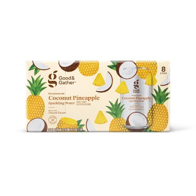 Coconut Pineapple Sparkling Water - 8pk/12 fl oz Cans - Good & Gather™