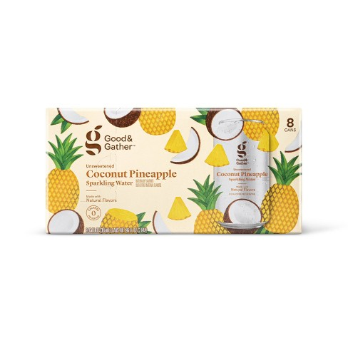 Coconut Pineapple Sparkling Water - 8pk/12 fl oz Cans - Good & Gather™ - image 1 of 3