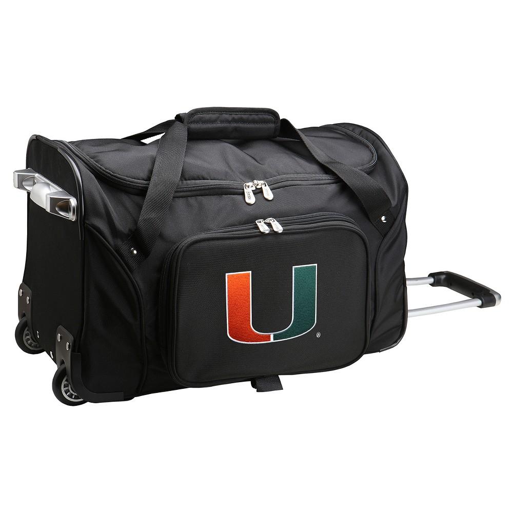 NCAA Miami Hurricanes 22'' Rolling Duffel Bag