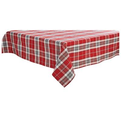 "Park Designs Sketchbook Snowman Plaid Tablecloth - 54"" - Red"