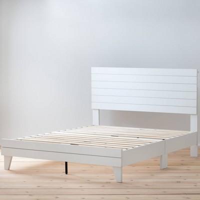 Sophia Shiplap Wood Panel Platform Bed - Brookside Home
