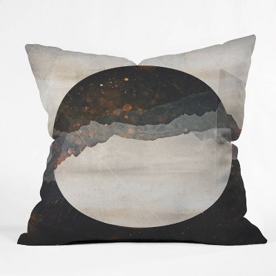 Emanuela Carratoni Another World Throw Pillow Black - Deny Designs