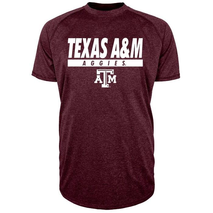 NCAA Texas A&M Aggies Men's Short Sleeve Raglan Performance T-Shirt - image 1 of 1