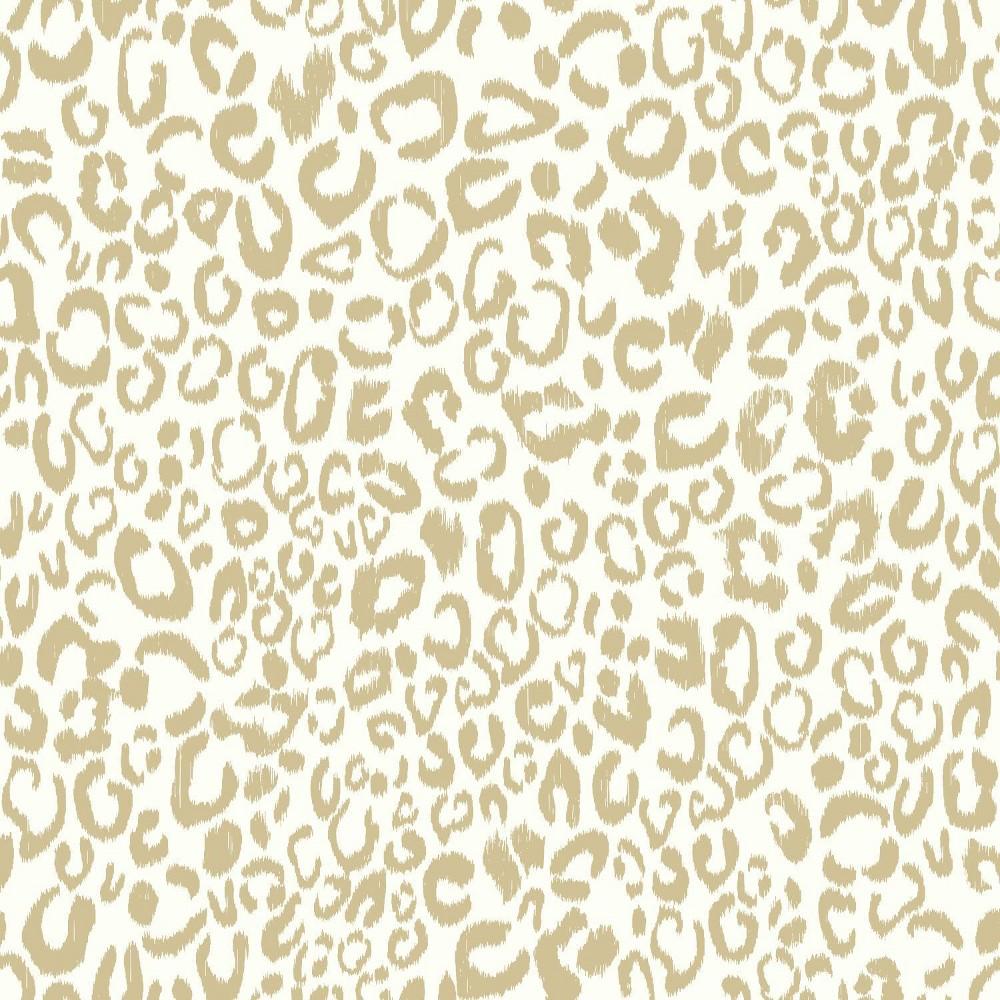 Leopard Peel & Stick Wallpaper Gold - RoomMates