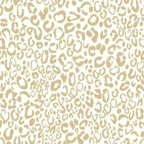 Leopard Peel Stick Wallpaper Gold Roommates